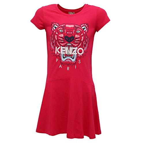 Kenzo 6646K Abito Bimba Girl Kids Vestito Cotton Fuxia Dress [12 Years]