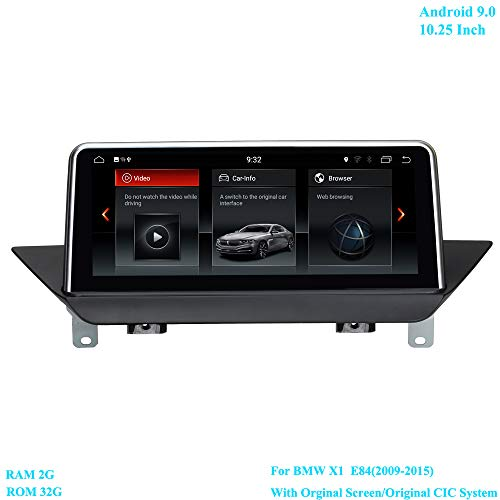 XISEDO Android 9.0 RAM 2G ROM 32G 10.25 inch beeldscherm 6-core autoradio moniceiver met GPS Navi Android radio voor BMW X1 E84 (2009-2015) met origineel screen/origineel CIC-systeem