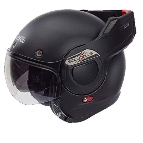 BEON B707 Stratos Klapphelm Motorradhelm - Matt Schwarz - L / 59 cm