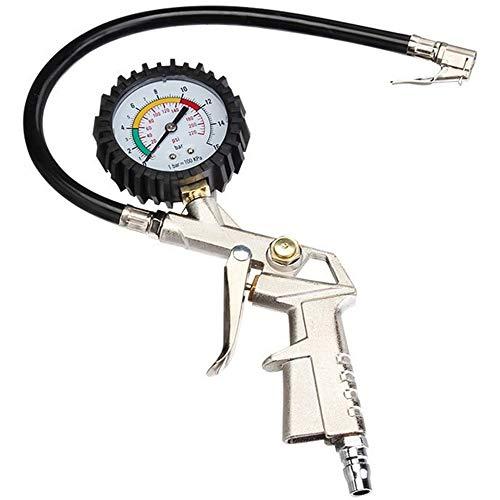 Xinlie Reifendruck Prüfer Luftdruckprüfer Reifenfüller Reifenfüll-Messgerät Reifendruckmesser Multifunktion Reifendruckprüfer Manometer-Messbereich 0-16 Bar Ideal fürs Auto, Geländewagen, Motorrad