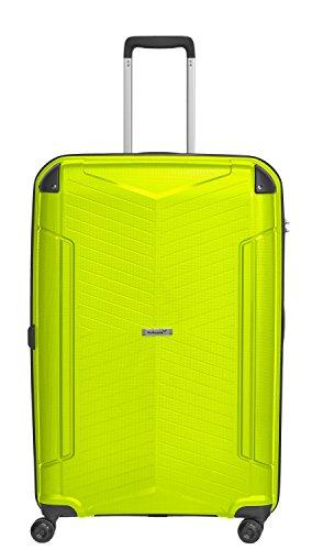 Packenger Koffer - Silent - (XL), Grün, 4 Zwillingsrollen, 109 Liter, 5,0Kg, Koffer mit TSA-Schloss, Polypropylen, Reise Trolley