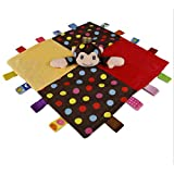Soft taggies Multicolour Label Baby Toy, Colorful Puppet Color Blanket Mini Cute Fashion Grasping Comforting Doll Multifunctional Puppets