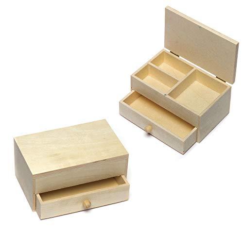 Baker Ross Joyeros de madera que los niños pueden decorar y personalizar...