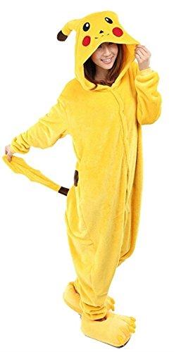 Très Chic Mailanda Costume de carnaval/cosplay en peluche avec capuche Unisexe/adulte Pikachu - X-Large