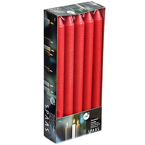 Ivyline s000900901321/240mm Haushalt Kerzen–rot (10Stück)