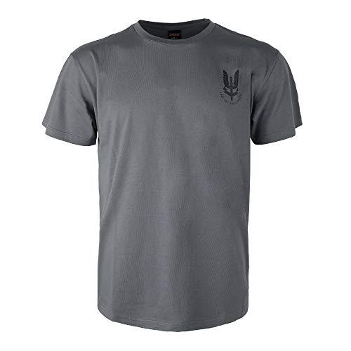EXCELLENT ELITE SPANKER Reino Unido Ejército SAS Reino Unido Especial Aire Servicio Operaciones Camiseta(Gris-XXL)