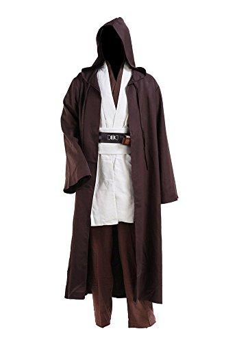 Star Wars Kostüme Obi Wan Kenobi Kostüm Jedi Kostüme für Erwachsene Herren L
