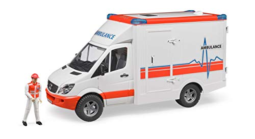 Bruder 02536 TOYS MB Sprinter Ambulanz mit Fahrer, Bunt