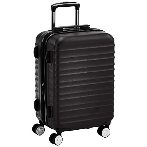 AmazonBasics Premium Hardside Spinner Suitcase Carry-On Luggage with Wheels - 20-Inch, Black