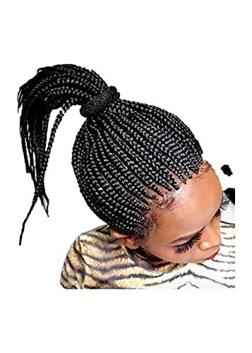 N\C Pelucas femeninas, Pelucas de trenza africana, Pelo rizado corto femenino, Diadema de malla elástica de gama alta, no perable