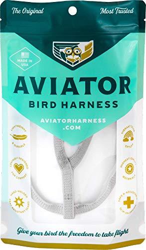 Le AVIATOR Oiseau Harnais: Large Argent
