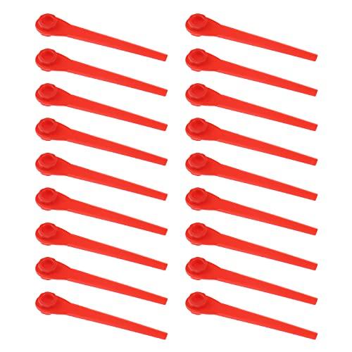 100 cuchillas de repuesto de plástico compatibles con EasyCut Li-18/23 R ComfortCut Li-18/23 R AccuCut 400 Li AccuCut 450 Li AccuCut Flymo Cortacésped Cortacésped sin cuerda cortadora de césped