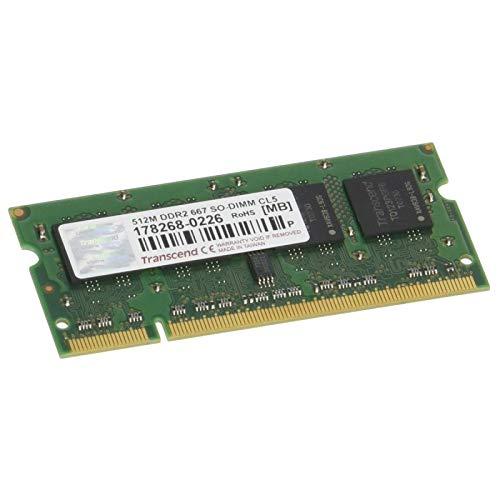 Transcend - Ordenador portátil (512 MB, RAM JM667QSJ-512M, SODIMM, DDR2, PC2-5300S, 667...