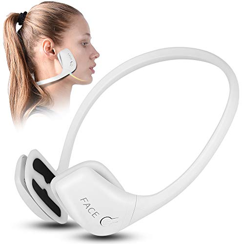 EMS V Face Massager, Face Lift Machine, Double Chin Remover Electric Face Slimming Skin Tightening Device for Men & Women(White)