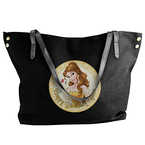Belle Women Style Canvas Large Tote Top Handle Bag Shopping Hobo Shoulder Bag, Large Size 18.1'' X 4.9'' X 12.99''