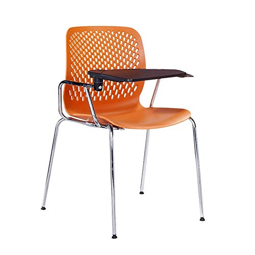 Training Chair Mesh Conference Chair with Wheels Training Chair Conference Reception Chair with Writing Board High-Back Desk Chair