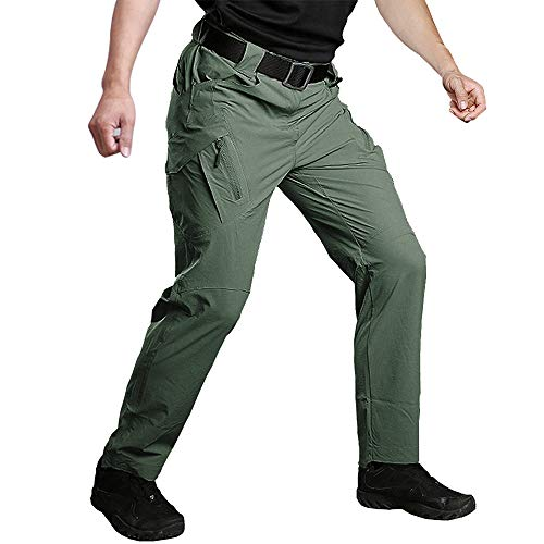 Susclude Men's Outdoor Work Quick Dry Military Tactical Pants Slim Fit Hiking Pants Mens Lightweight Cargo Pants