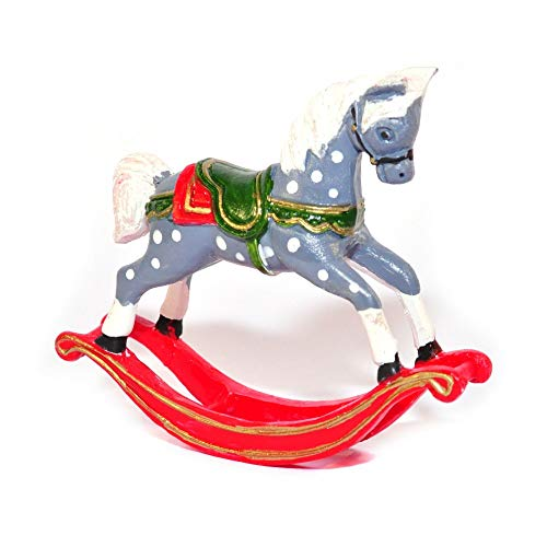 Melody Jane Dolls House Old Fashioned Rocking Horse Christmas Nursery Toy Shop Accessory