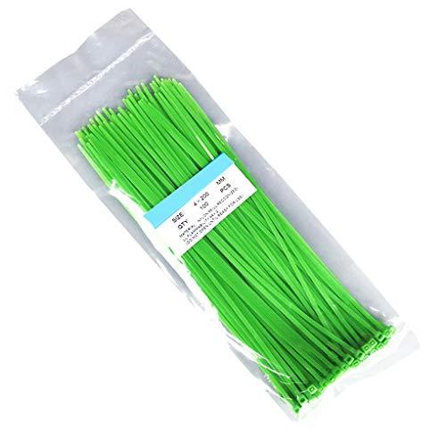 Guangcailun 100pcs / Bolsa de Auto-Bloqueo de Nylon Alambre de plástico de Cable de Red con Cremallera de línea dedicada Paquetes Pase la Correa