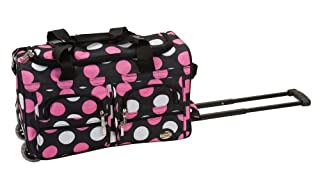 Rockland PRD322 Luggage Rolling Duffle Bag, Multiple Pink Dot, One Size, 22-Inch (B000SRL72U) | Amazon price tracker / tracking, Amazon price history charts, Amazon price watches, Amazon price drop alerts
