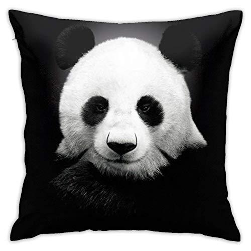 JONINOT Doble Cojines Fundas 18' Panda Funda de Almohada Suave para la Piel