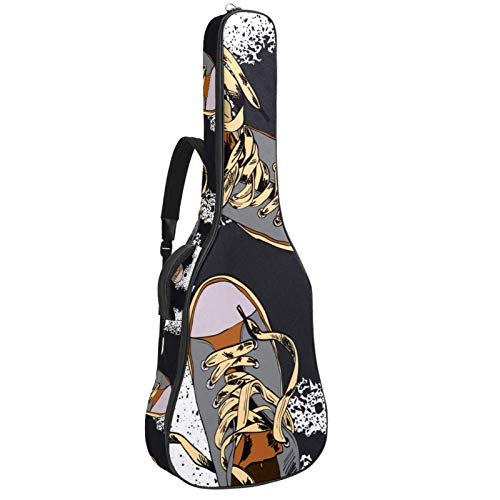 Bolsa Guitarra Electrica Zapatos Funda para Guitarra Oxford impermeable Mochila guitarra Para guitarra bajo ukelele Para niños niñas 109x43x12cm