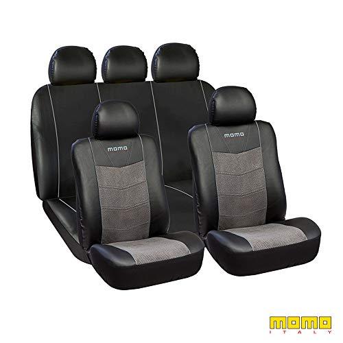 MOMO SC032BG Fundas Asientos para Automóviles, Negro/Gris