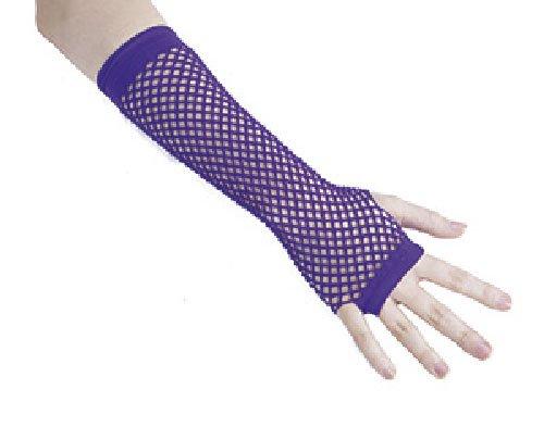 P'TIT Clown re90304, gants mitaines longues résille violet, adulte