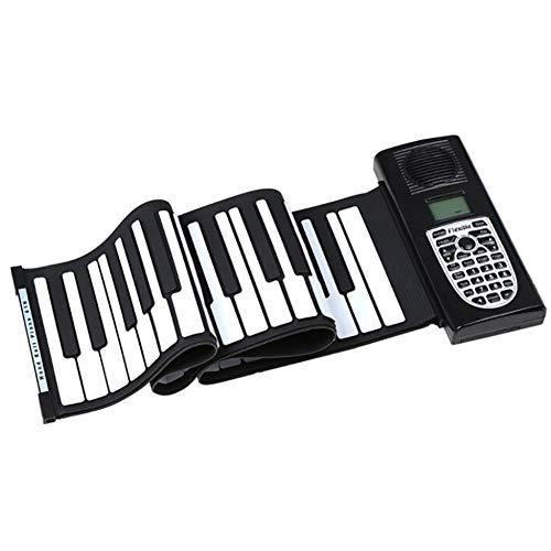 LJRdg Roll Up Piano, Tastatur Hand Rolle Elektronische Klavier 61 Key MIDI Out-Funktion. Kann Direkt An Einen Computer Angeschlossen Werden, Spielt Mit MIDI-Software, Musikbearbeitung Produktion.