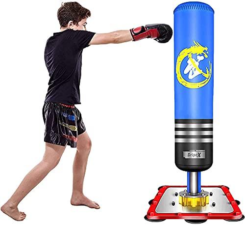 Dripex Sac de Frappe sur Pied Enfant 120cm Sac de Boxe Autoportant pour Karaté Fitness Taekwondo Cadeau Noël et Nouvel an pour Enfant