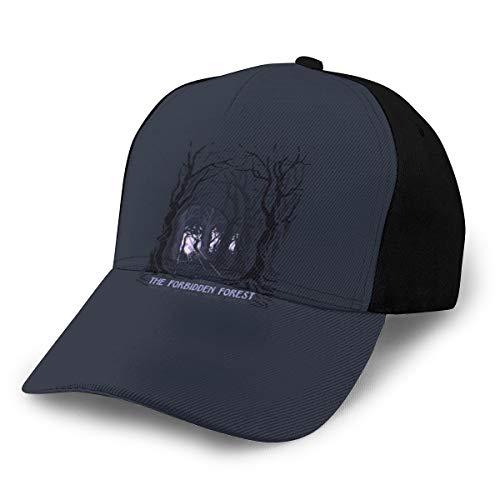 N/ Visit - Gorra de béisbol Ajustable, diseño de Bosque Prohibido, Color Negro