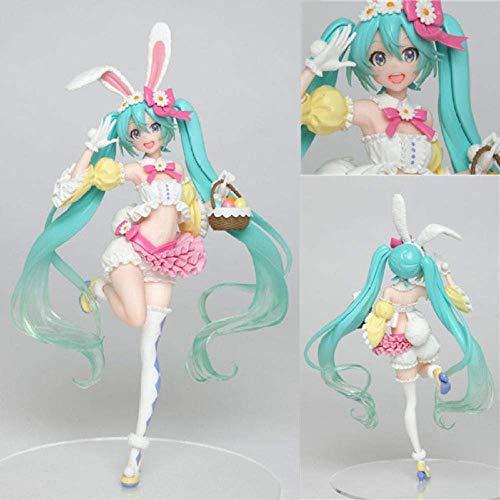WCY Hatsune Miku Miku Four Seasons Series Verkaninchen Ohr Hatsune Frühlingskleidung Boxed Hand Office Aberration ca. 19cm yqaae