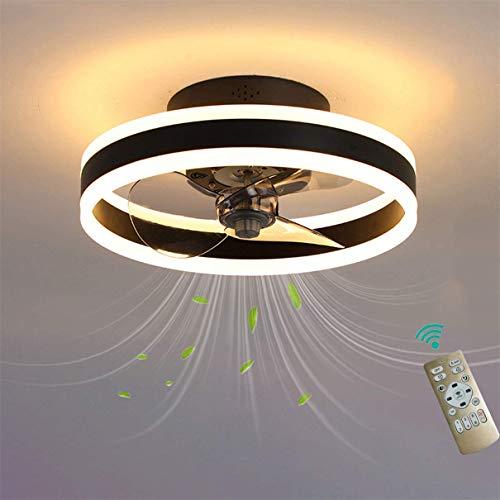 Schlafzimmer Deckenventilator Mit Beleuchtung Und Reversibel Fernbedienung Leise Moderne Led Deckenventilator Mit Licht 6 Geschwindigkeiten Wohnzimmer Ventilator Deckenleuchte,Schwarz