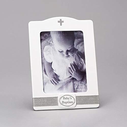 로마 10H 아기 세례 사진 프레임-5X7 보유
