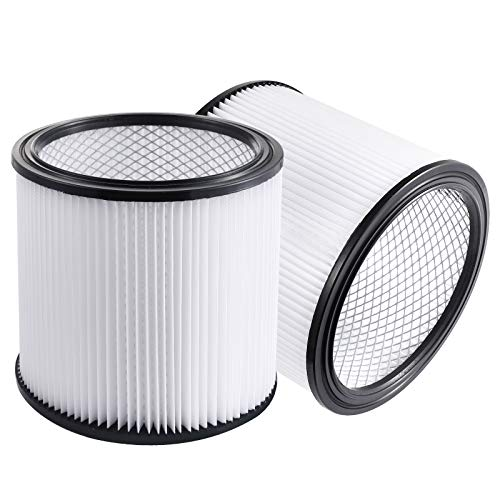 DerBlue 2 PACK Replacement Filter Compatible with Shop-Vac 90304 90350 90333 fits Most Wet/Dry Vacuum Cleaners 5 Gallon and Above