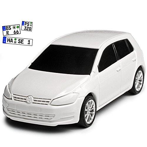 Rietze Volkwagen Golf VII Weiss 5 Türer Ab 2012 1/64 Modell Auto mit individiuellem Wunschkennzeichen