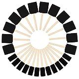 Kurtzy Brocha de Esponja para Pintar (Pack de 24) - Dos Tamaños - Set Pincel Espuma Mango de Madera – Herramienta Pintar Acrílico, Oleo, Tinte y Acuarela - Esponja Pintura Manualidad Adultos y Niños