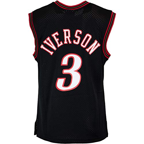 Mitchell & Ness Swingman Allen Iverson Philadelphia 76ers 2000/2001 Trikot (M, Black)