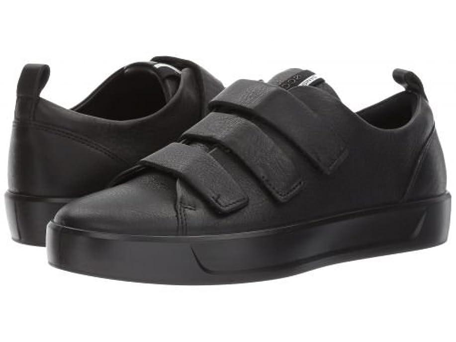 はずメタン発掘するECCO(エコー) レディース 女性用 シューズ 靴 スニーカー 運動靴 Soft 8 Strap Sneaker - Black/Black [並行輸入品]