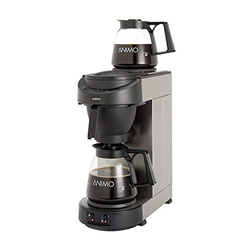 Animo M 100 Edelstahl Kaffeemaschine inkl. 2 Glaskannen 1,8l