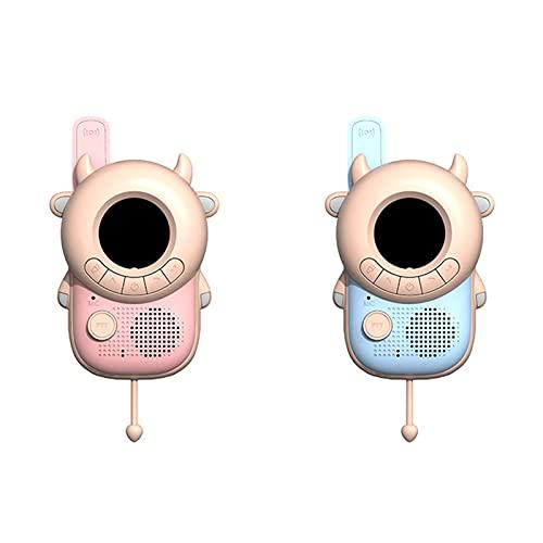 Feixing Paquete de 2 walkie talkies para niños juegos al aire libre inalámbrico mano forma de abeja 3 km juguete interactivo regalo para niños niñas