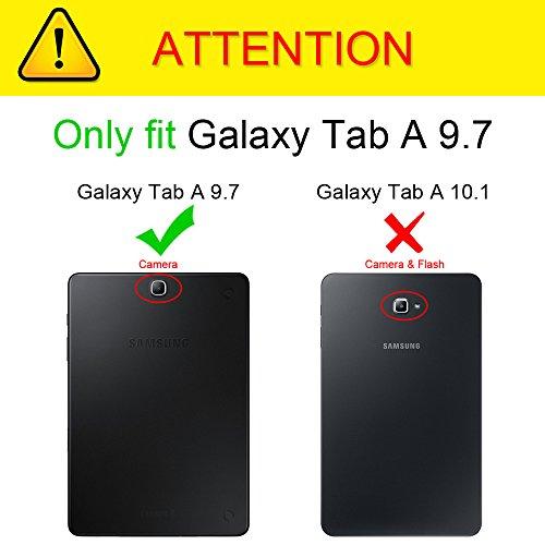 Fintie Hülle für Samsung Galaxy Tab A 9.7 ZollT550N / T555N Tablet-PC - Ultra Schlank Superleicht Ständer SlimShell Cover Schutzhülle Etui mit Auto Schlaf/Wach Funktion, Die Galaxie