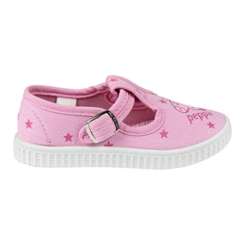 Cerdá Zapatillas Lona Niña de Peppa Pig de Color Rosa Palo, Unisex niños, 22 EU