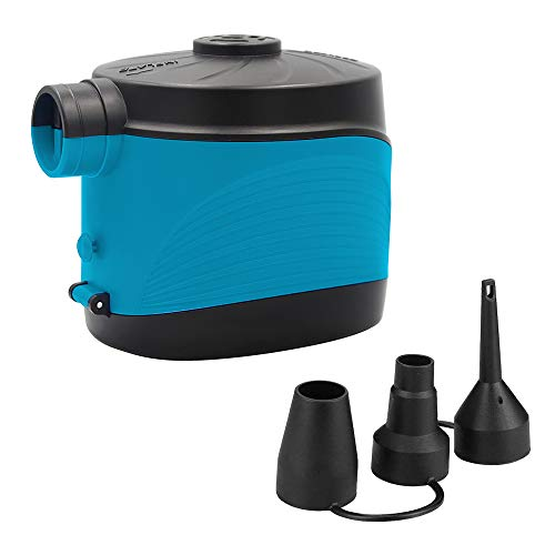 0BEST Pompa ad aria elettrica, estrattore d'aria senza fili con batteria, gonfiatore rapido e sgonfiatore per materasso ad aria da bagno (senza batteria 4D)