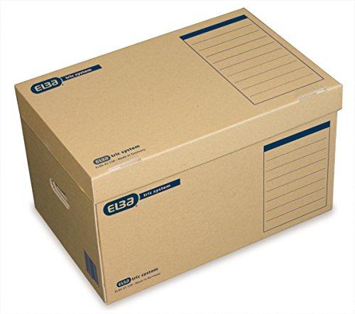"Elba 100421143 Systemcontainer ""tric system"" mit Klappdeckel, 10 Stück, naturbraun thumbnail"