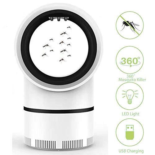 Insektenvernichter Elektrisch Fliegenfalle Mückenlampe, UV Insekten Moerder Moskitolampe Nano LED-Leuchte, Insektenschutzmittel Insektenabwehr für Drinnen Draossen Stromsparend