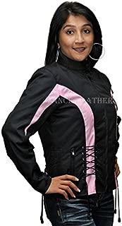 Ladies Textile Crystal Jacket Black and Pink