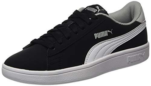 PUMA Unisex Smash V2 Buck Jr Sneaker, Schwarz Black White-High Rise, 38 EU