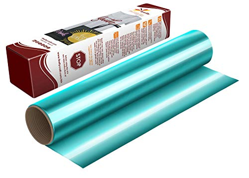 "Firefly Craft Elastic Foil Spot Rainbow Heat Transfer Vinyl Sheet | Rainbow HTV Vinyl | Iron On Vinyl for Cricut and Silhouette | Heat Press Vinyl for Shirts - 12"" x 20"" Sheet"