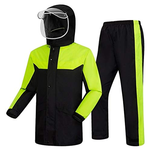 Home-life Pluie Unisexe Haut De Gamme Poncho, Raincoat Léger Durable, Costume Pluie Raincoat RÉFLECTEURS Sécurité for Vélo Camping Randonnée (Size : L)